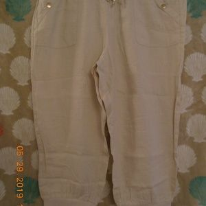 NWT GUESS CHINO COLOR LINEN CAPRIS